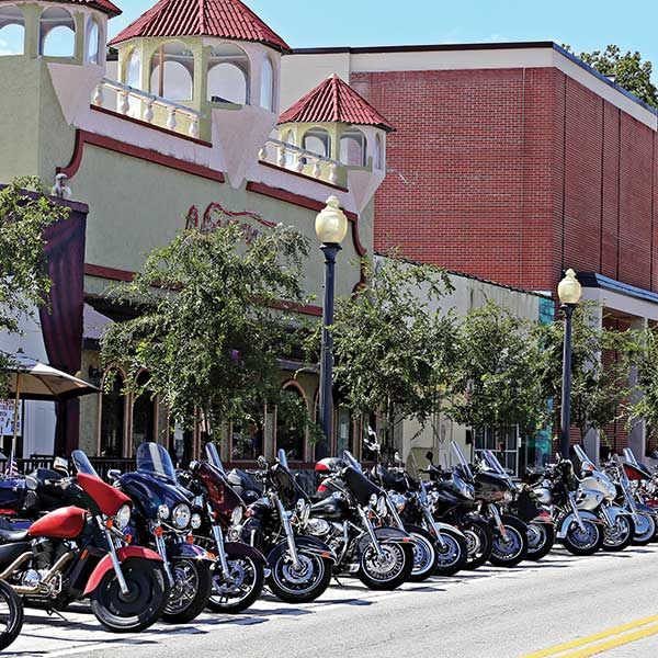 New Port Richey Motorcycle-only parking